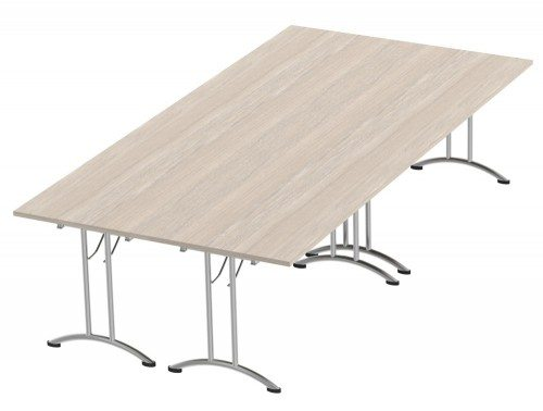 Morph Meeting Configuration Rectangular in Arctic Oak
