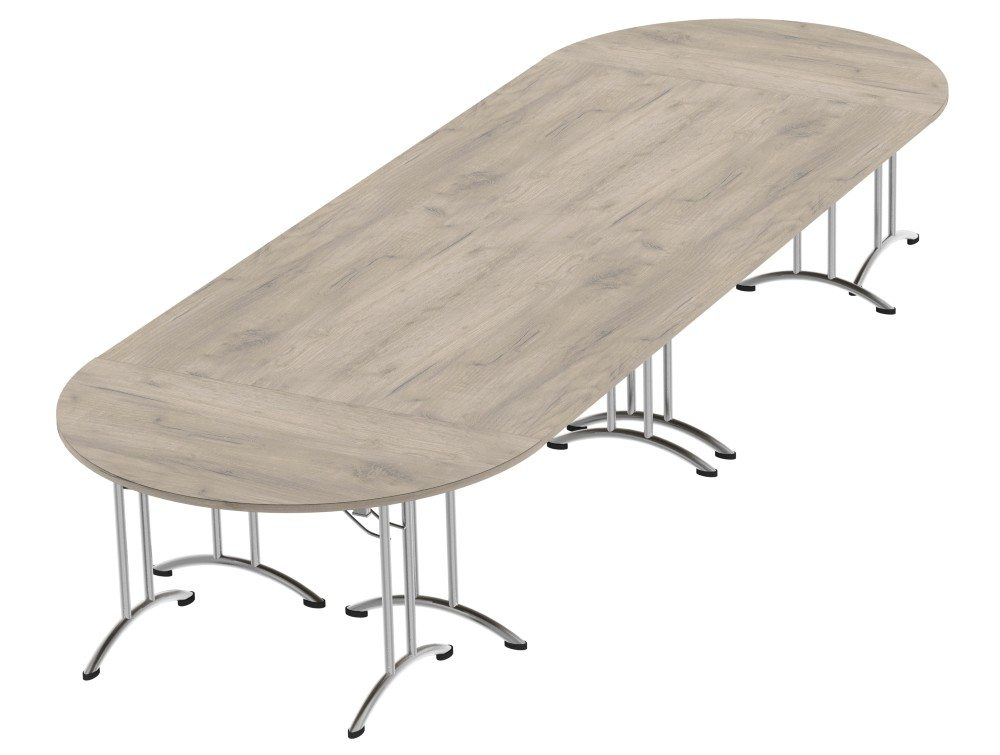 Morph Meeting Configuration D-end in Grey Craft Oak