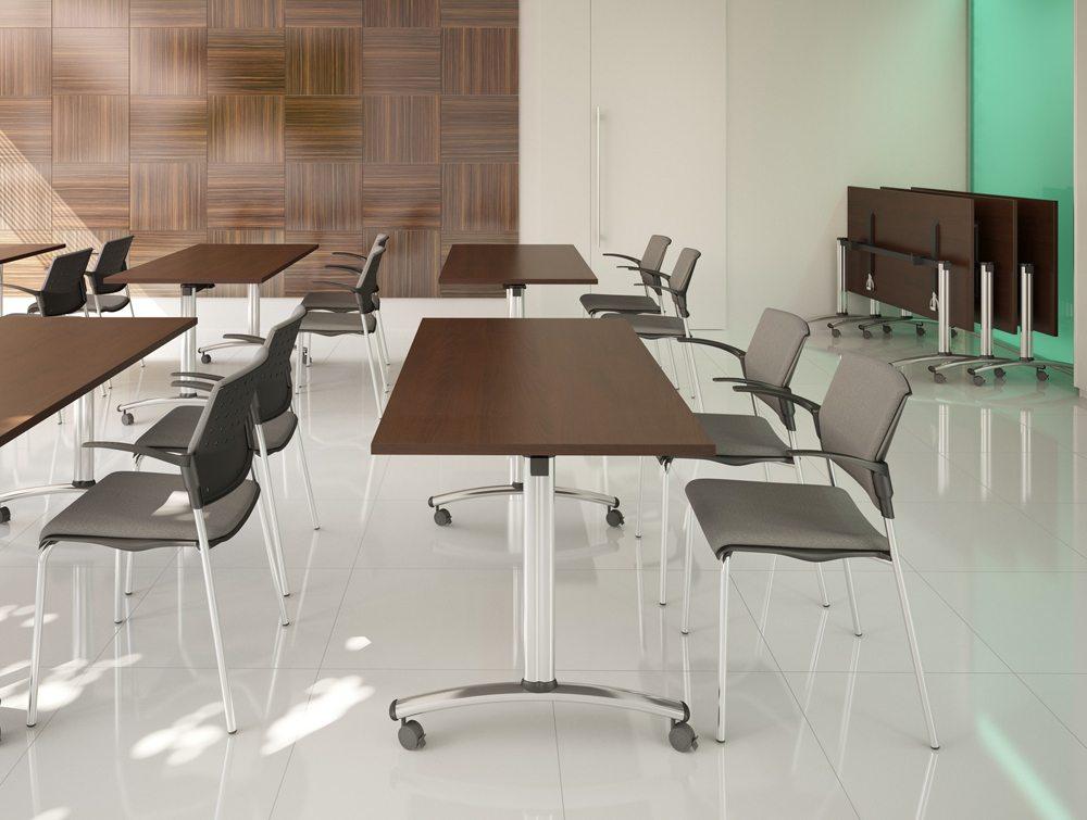 Morph Fold Rectangular Foldable Table In White