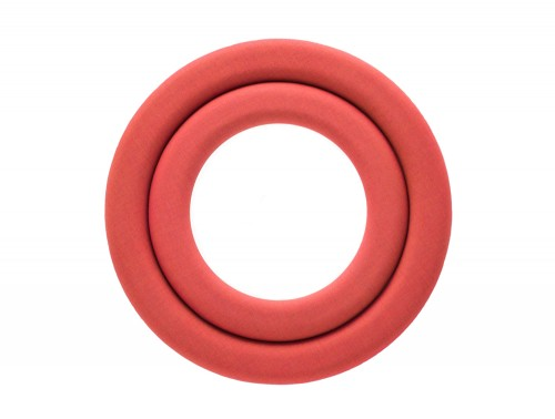 Mute Design Rings Wall Mounted Acoustic Panel in Red
