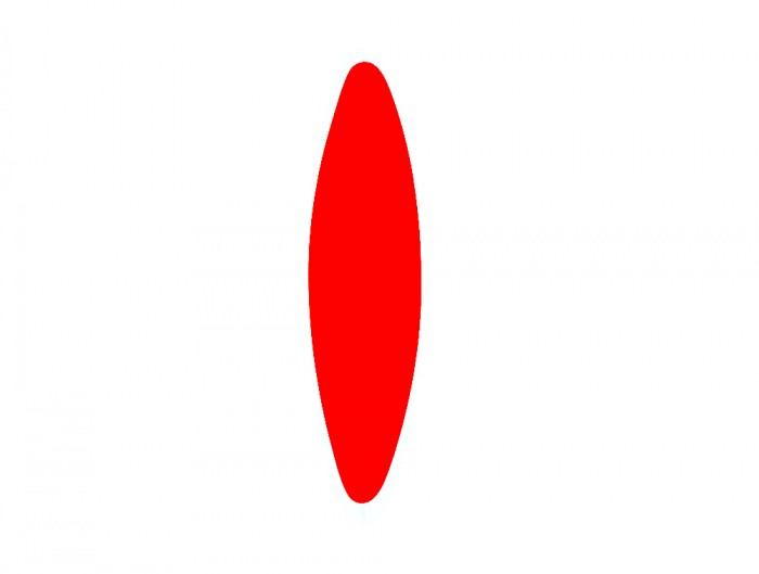 Mute Design Shell Curved Wall Mounted or Hanging Acoustic Panel Red
