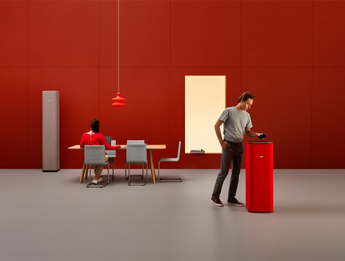 Mute Design Tower Freestanding Small and Large Acoustic Column Cube Shape with Induction Charger
