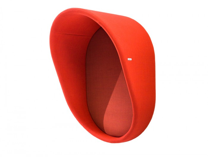 Mute Design Wall Mounted Acoustic Phone Booth in Red
