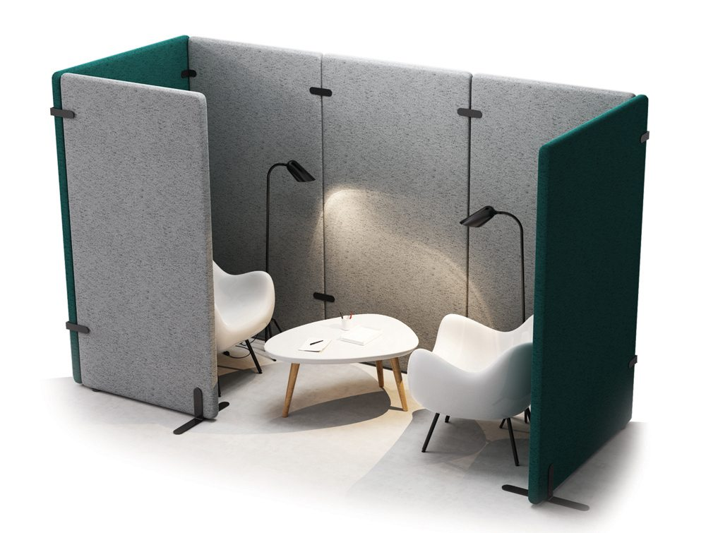 Mutedesign wall mobile standing acoustic screen for Mobile furniture design