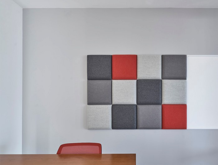 MuteDesign Blocks Square Acoustic Screens Wall Mounted in Office