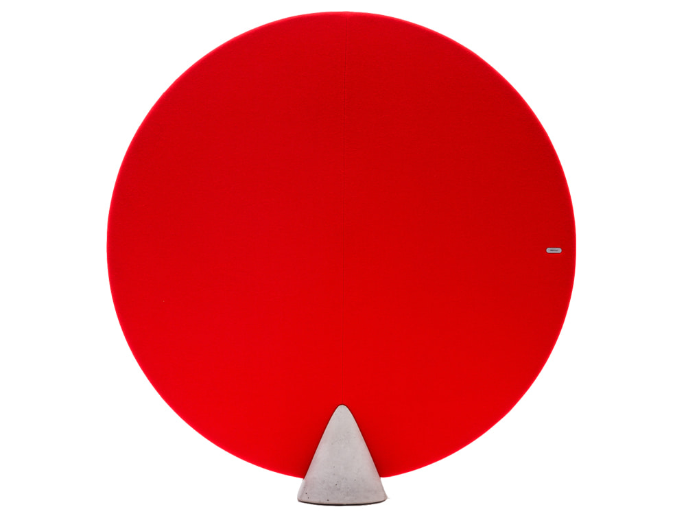 MuteDesign Cone Oval Freestanding Acoustic Panel in Red