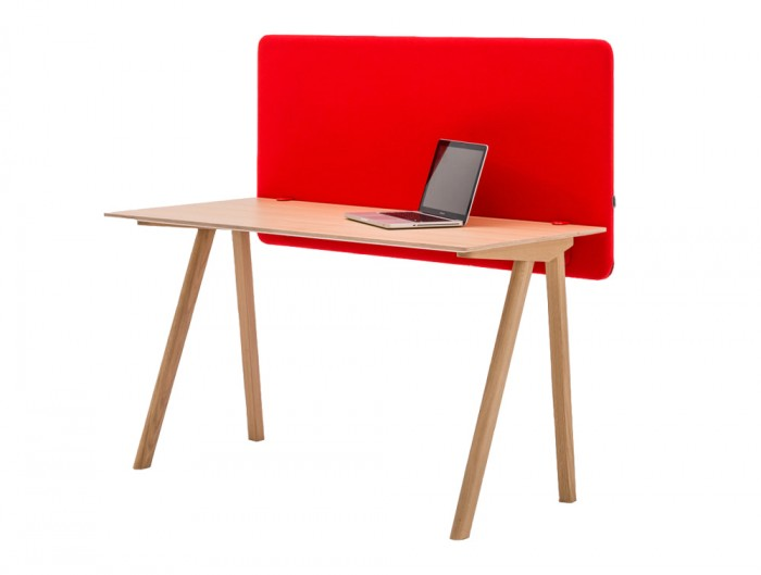 MuteDesign Duo Desk Acoustic Screen in Red