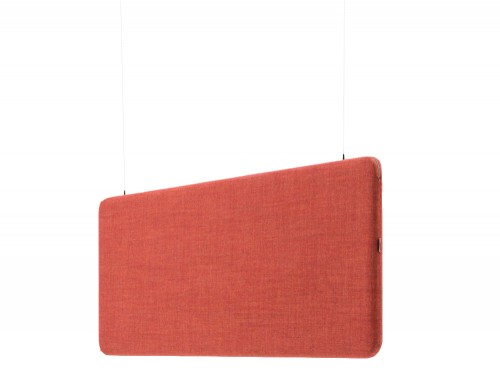 MuteDesign Duo Hanging Acoustic Screens in Red