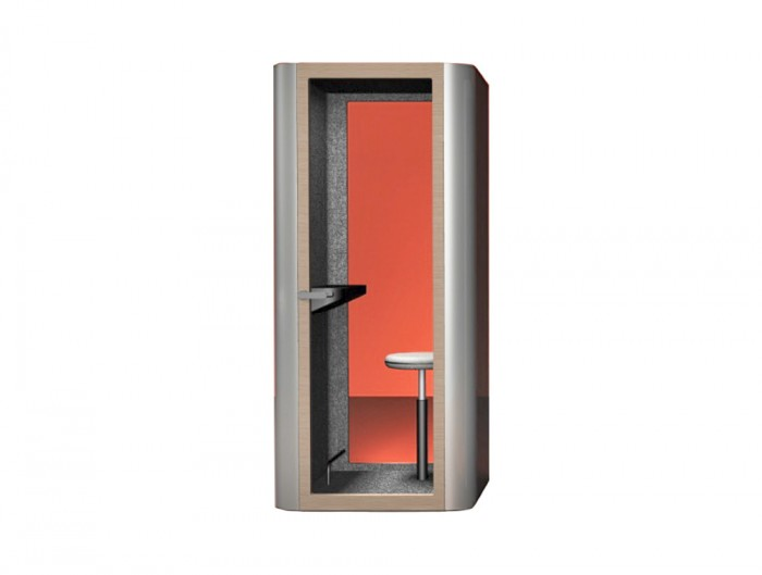 MuteDesign Space M Single Person Office Acoustic Workstation or Phonebooth with Wooden Framed Door