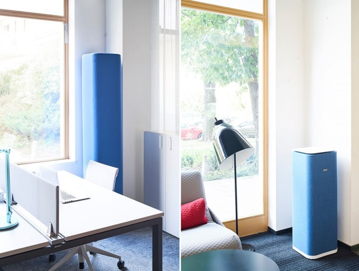 MuteDesign Tower Freestanding Cubic Acoustic Column Office Home in Blue