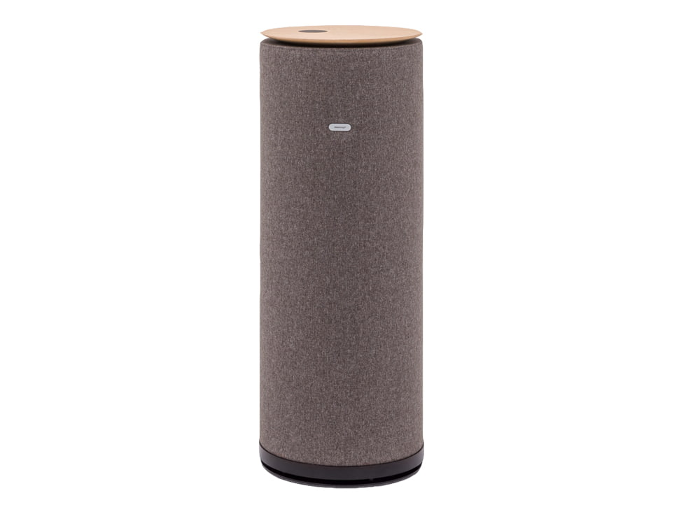 MuteDesign Tower Freestanding Cylinder Acoustic Column with Wireless Phone Charger