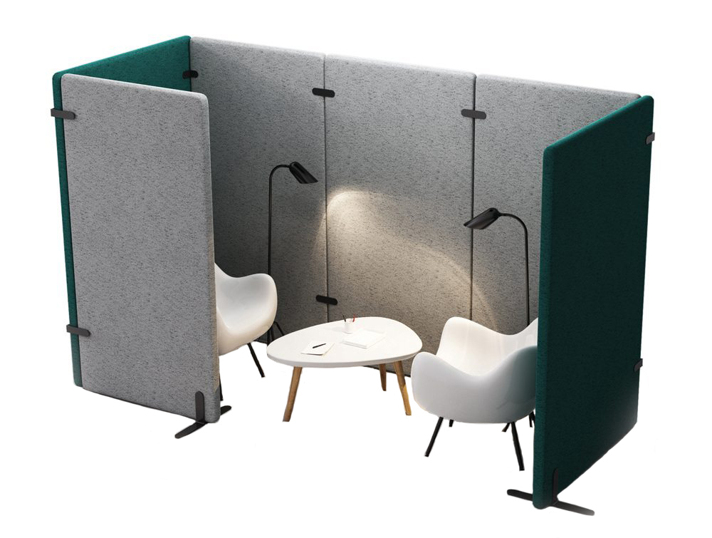 MuteDesign Wall Acoustic Completely Modular Pod