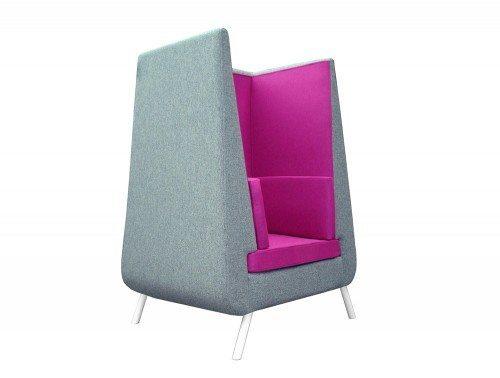 Norah Meeting Sofa Den 2 - Grey and Fuchsia color