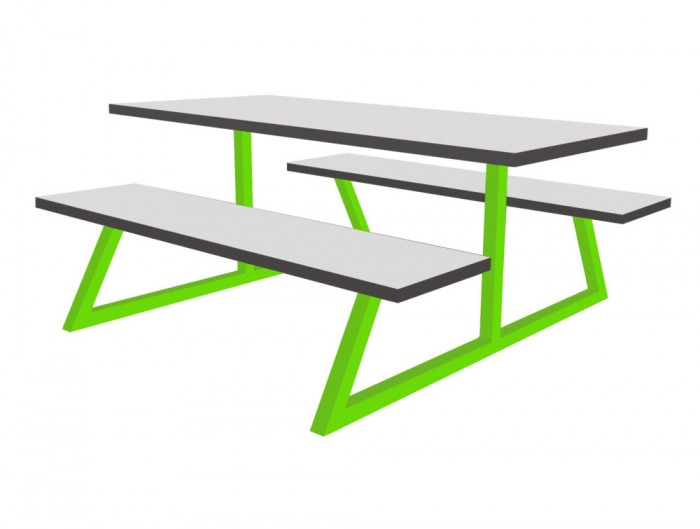 Nova Fast Food Fixed Furniture Set Table and Benches