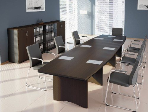 O Boardroom Table Dark Walnut 4200mm