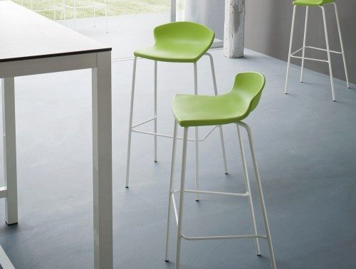 Easy high canteen chair in green