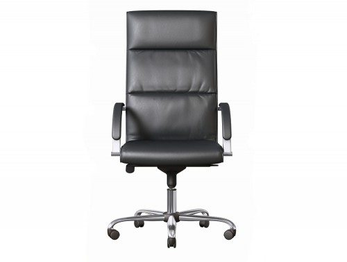 O On Black Leather Office Chair Jpg