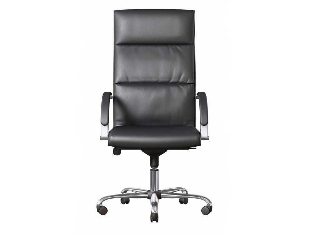 on series executive office chair in full black leather. Black Bedroom Furniture Sets. Home Design Ideas