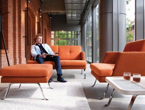 Profim October soft seating in orange