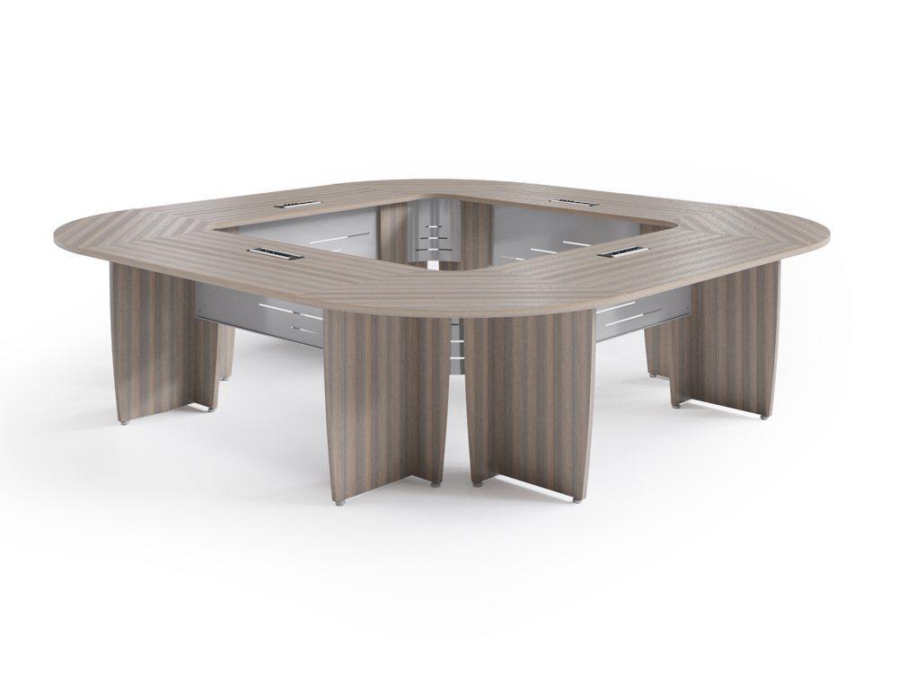 Buronomic Success Meeting Room Square Table - Cedar