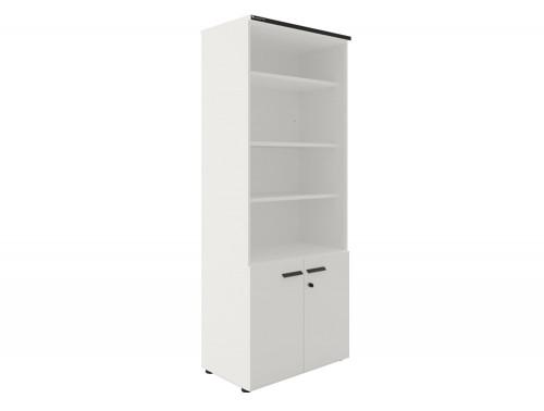 Buronomic 4-Shelf Bookcase with Cupboard