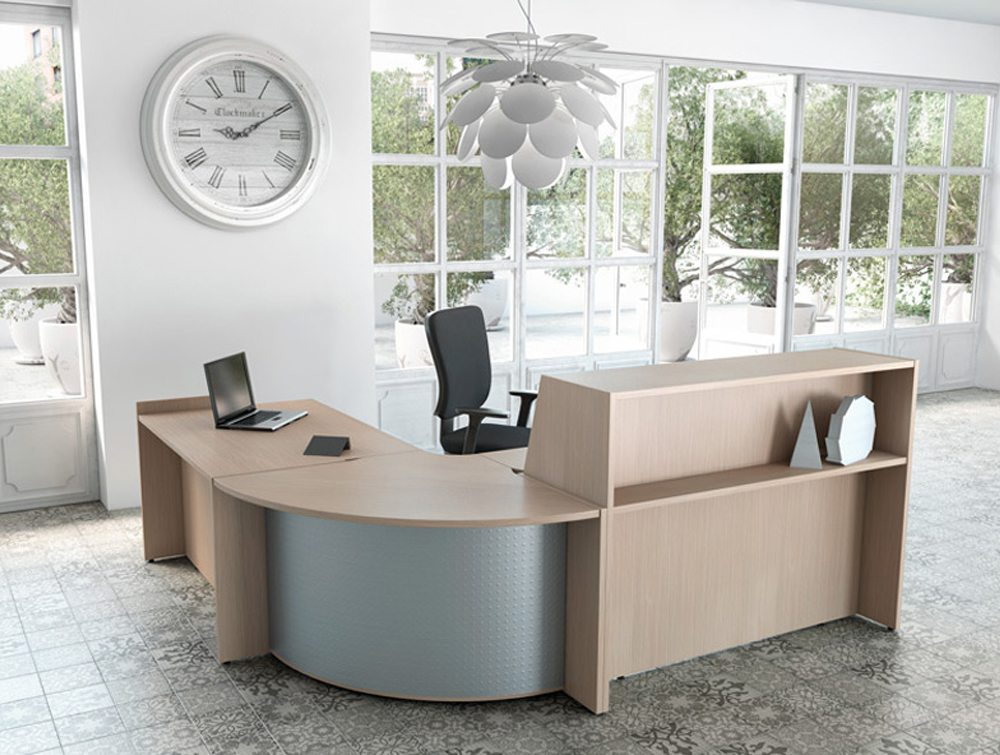 Buronomic reception with corner unit and high work top