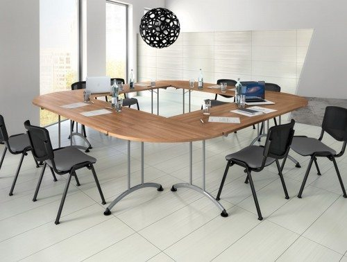 Buronomic rectangular folding table with 90 links