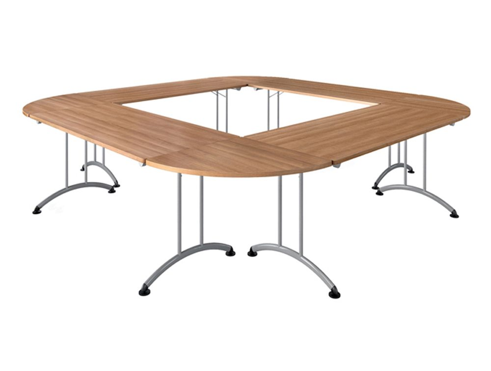 Buronomic Rectangular Folding Table with 90 Degrees Links