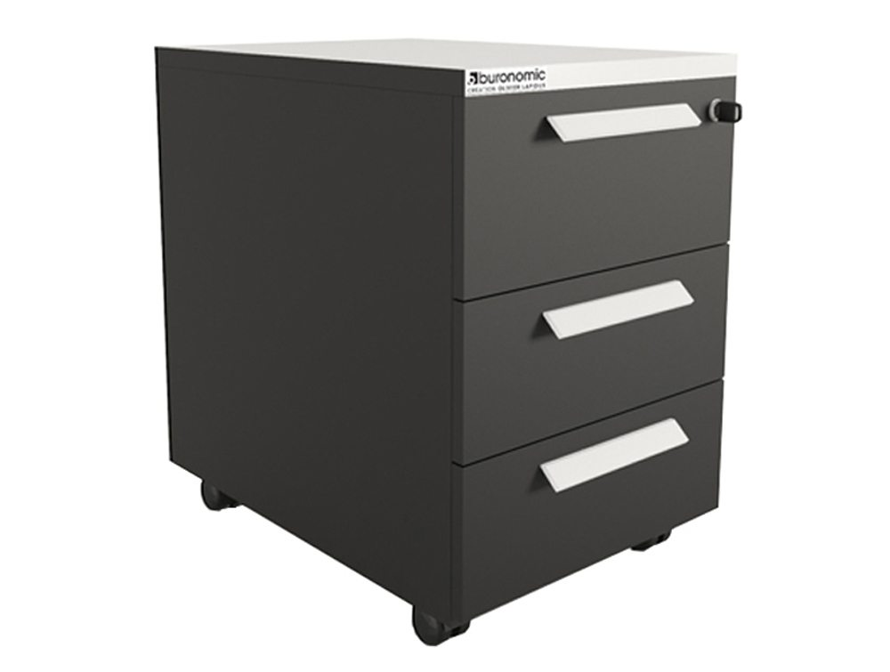 Buronomic mobile pedestal with 3 box drawers radius office for Mobile furniture