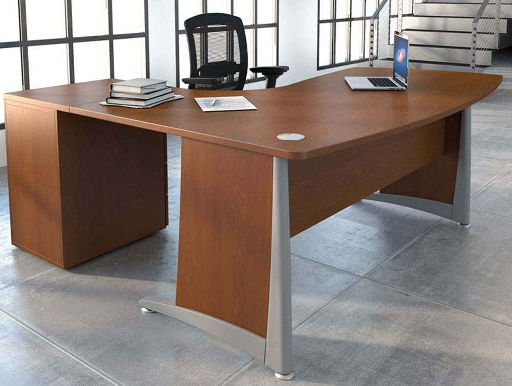 Buronomic compact manager desk with support leg
