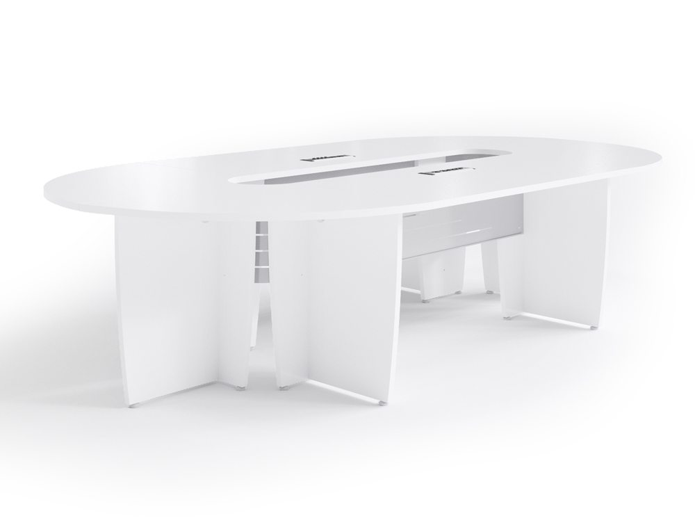 Buronomic Success Meeting Room Oval Table - White