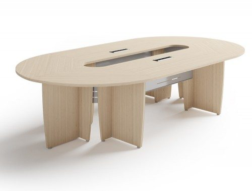 Buronomic succes meeting room oval table in cedar