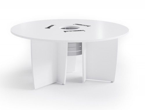 Buronomic Success Meeting Room Round Table in white