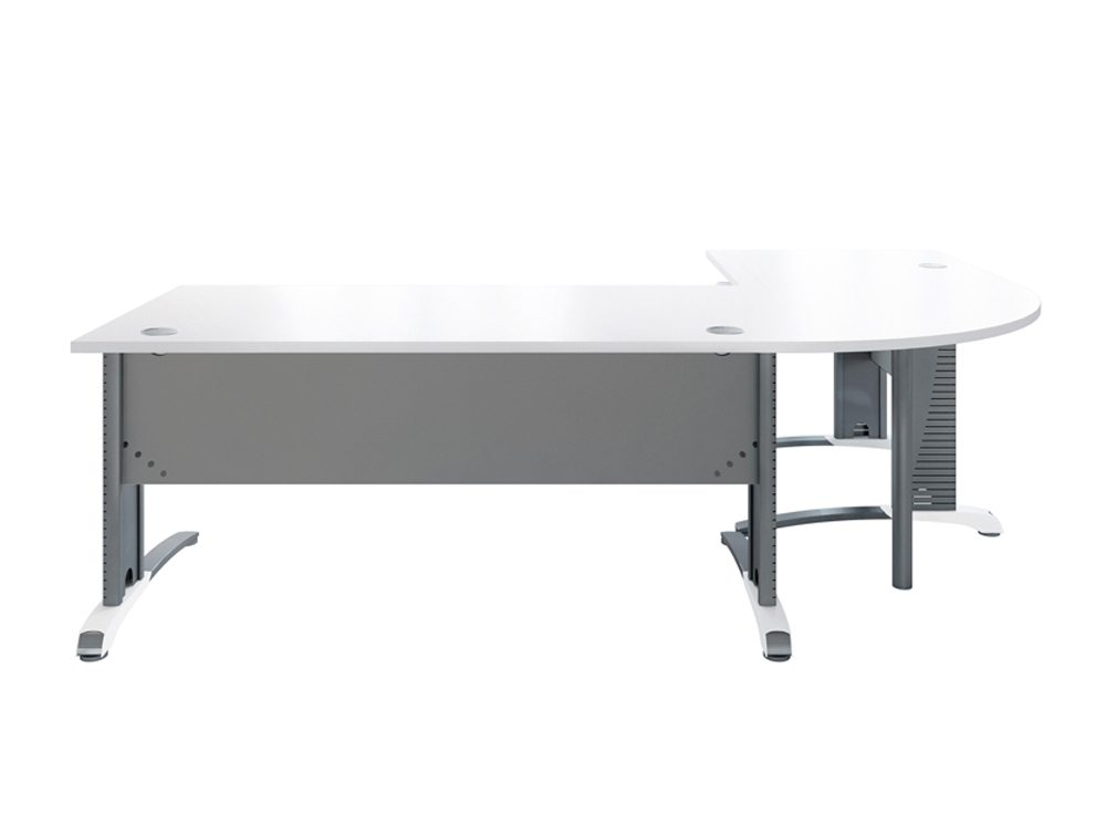 Buronomic C2 Desk with Panel and 90 Degrees Link Support Leg in White