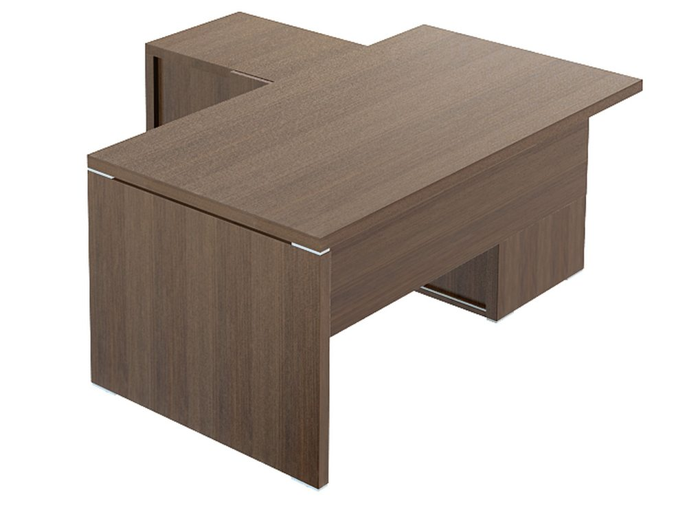 Quando Executive Desk with Credenza Return - 1600mm