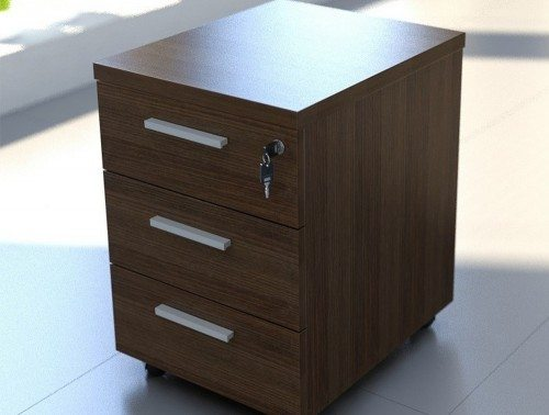 Quando Mobile Pedetstal 3 Metal Drawers Anti Tilt Soft Close in Situ