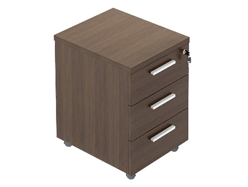 Quando Mobile Pedestal with 3 Drawers
