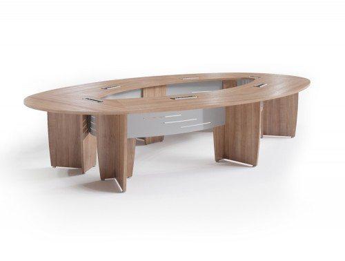 Buronomic success meeting room elliptical table in havana
