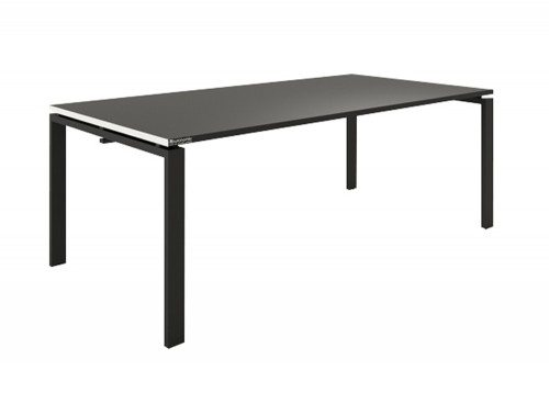 Buronomic Meeting Table in A2 Arch Leg with black top