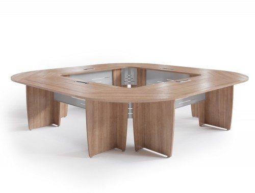 Buronomic Succes meeting room square table in bleached havana