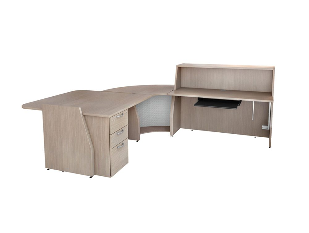 Buronomic Reception Counter with Pedestal and Work Top