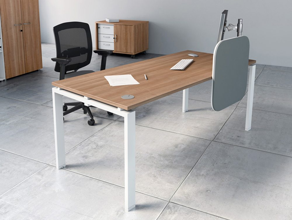 Buronomic A2 straight desk single workstation