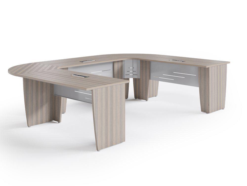 Buronomic Success Meeting Room U-Shaped Table - Cedar