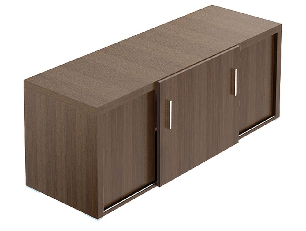 Quando Credenza Unit with Sliding Doors