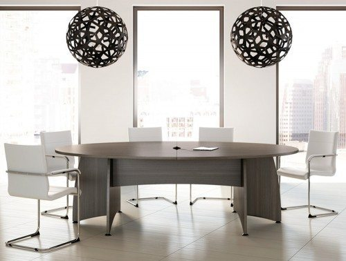 Buronomic 8 seater elliptical conference table