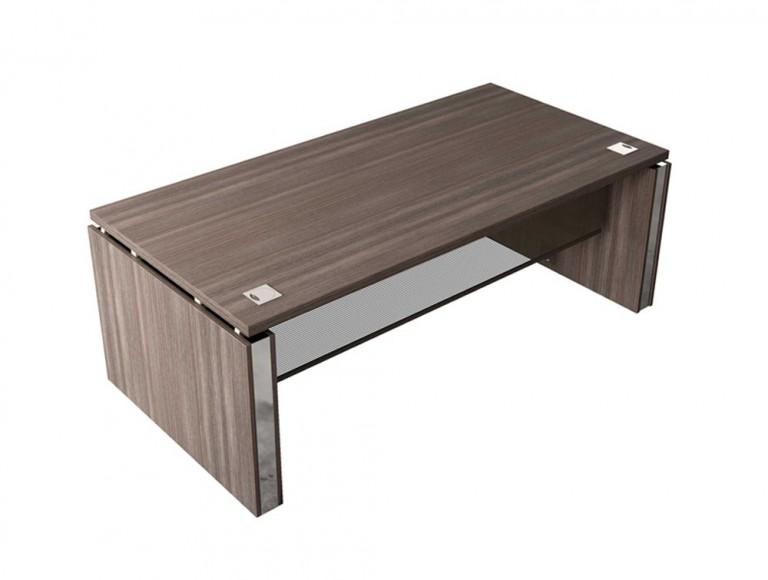 Buronomic Executive Desk with Mesh Modesty Panel