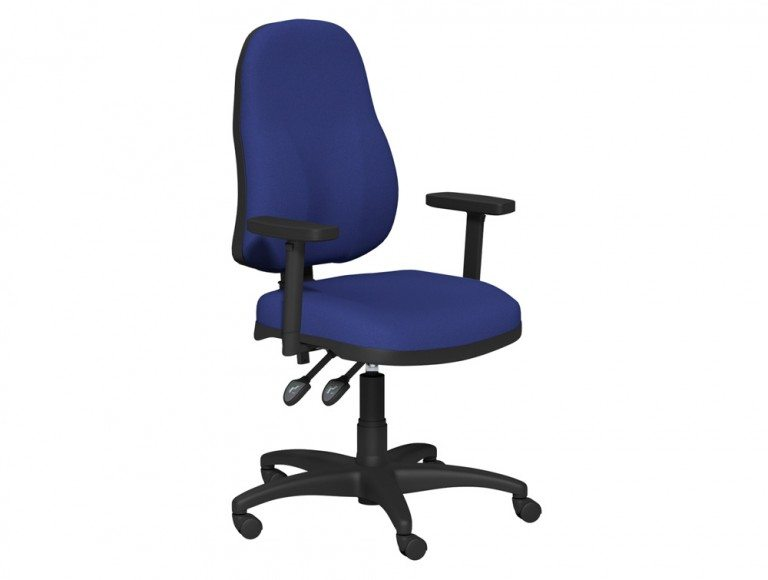OA Task Operator High Backrest Swivel Chair With Adjustable Armrests in E031 Navy