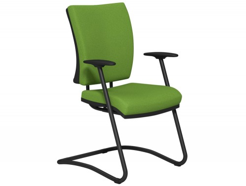 OG2 Mid Backrest Black Frame Guest Chair E051 Green