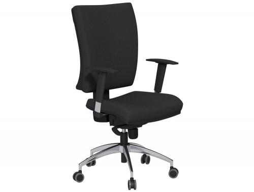 OG3 High Backrest Chrome Frame Swivel Task Chair E001 Black Vario Armrest Pair