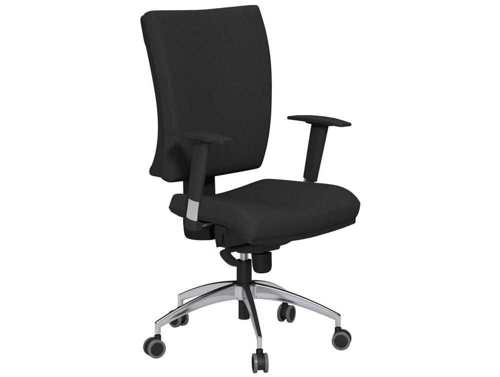 og series high backrest swivel task chair in black